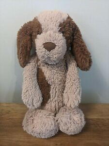 Jellycat Medium Puppy Dog Bashful Spaniel Soft Toy Brown Beige Retired Rare