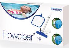 """8ft 10ft 12ft Swimming Pool Maintenance Kit Cleaning Net Vacuum & Skimmer 80"""""""