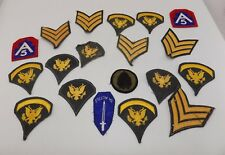Lot of 19 Military Patches US Army