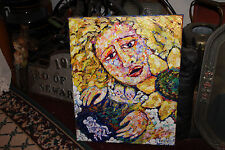 Creepy Oil Painting-Woman Holding Children-Infants Falling-Abstract-Signed-LQQK