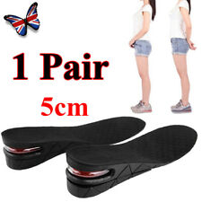 2-Layer Height Increase Shoe Insoles Heel Lift 5CM Air Cushion Elevator Taller