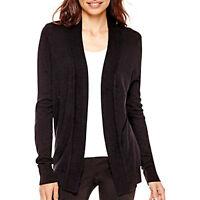 Tunic Cardigan Sweater Black NEW Women Small Medium Large XL Worthington M67