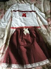 10 Years Girls Hand Made Outfit, spanish, traditional, gypsey, retro