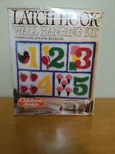 "Vintage Wonderart Children's Design Latch Hook Kit No.4864 ""Numbers"""