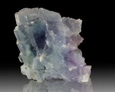 "4.4"" Vivid Purple PHANTOMS in Pale Blue Cubic FLUORITE Crystals Spain for sale"