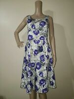 LAVIA 18 by Piazza Sempione Cotton Abstract Print Fit&Flare Dress Size IT44/US 8