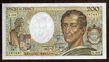 Billet France, 200 Francs Montesquieu, 1981, NEUF