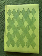 "Pierre Belvedere Italian Green Leather Hardcover Journal Notebook 9 5/8""x7"""