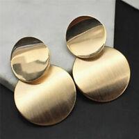 Statement Geometric Circle Gold Plated Ear Studs Earrings Women Drop Earrings NE