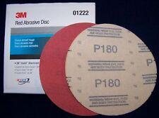 "3M Red 1222 Hook It 6"" Disc Sandpaper 180 grit 50/bx"