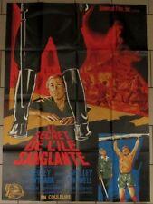 LE SECRET DE L'ILE SANGLANTE affiche film 120x160 cm NOEL 1964