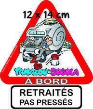 CAMPING CAR Autocollant TAMALOU à BORD Petit format