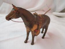 Vtg 1950 P. Di Napoil copper finish metal Carnival Horse prize Western Saddle