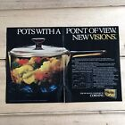 Corning Visions Cookware Collection 1983 Vintage Print Ad/Poster Original
