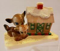 Vintage Christmas Decor Deer And House Barn Hong Kong