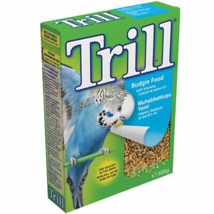 Trill Budgie Seed 500g X2 Boxes