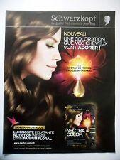 PUBLICITE-ADVERTISING :  SCHWARZKOPF Nectra Color  2014 Yulia - Coiffure