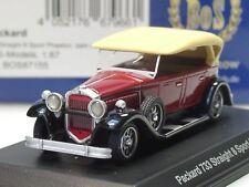 BOS Packard 733 Straight 8 Sport Phaeton, rotbraun - 87155 - 1/87