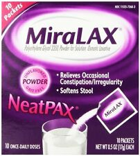 2 Pack - MiraLAX Single Dose Sachets, 10-Sachets, 0.5 Oz Each