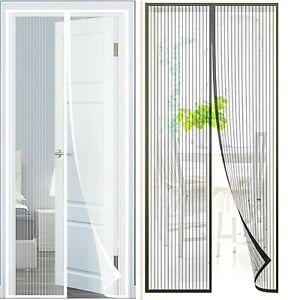 Kit Rideau de porte Moustiquaire à Fermeture magnétique pour Tous Type de Porte