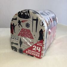 NEW Sealed Star Wars The Force Awakens Valentine Mailbox And Stickers