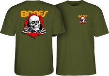 Powell Peralta Bones Ripper Skateboard Shirt Military Green Xl