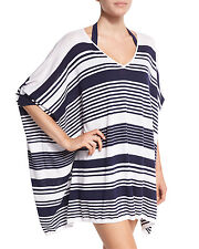 NWT Tommy Bahama Swimsuit Cover Up Beach Sweater Oversized Stripe Sz S Mare Navy