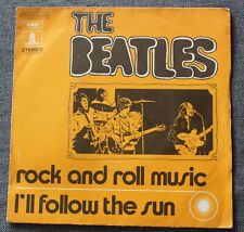 The Beatles, rock and roll music / i'll follow the sun, SP - 45 tours  France