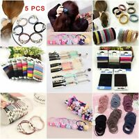 Fashion Kids Girl Elastic Rubber Hair Ties Band Rope Ponytail Holder Scrunchie