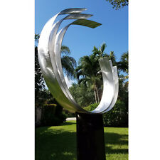 Statements2000 Metal Sculpture Abstract Silver Outdoor Garden Decor by Jon Allen