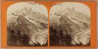 Francia Vallée Da Chamonix Montagne Foto Stereo Vintage Albumina Ca 1865