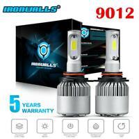 8000LM 9012 HIR2 LED 72W Headlight Conversion Kit Globes Bulbs 6000k White 2X