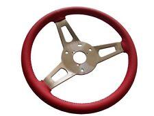 PG Classic 256-BS-R Mopar A,B,C,E-Body Leather Tuff Steering Wheel, RED