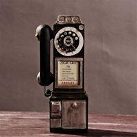 Vintage Style Rotary Téléphone Rotatif Mural Cadran Phone Modèle CollectionDécor