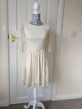 Cameo Rose Lacy Dress Size 8 Ivory