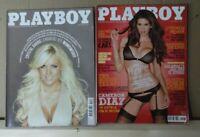 Revista Magazine  Playboy lote de 2 nº 80 y 84  2010-2011 con posters