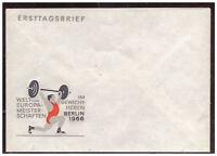 DDR, FDC WM und EM im Gewichtheben, 1966 blanko