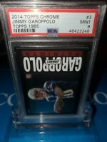 PSA 9 MINT~2014 JIMMY GAROPPOLO TOPPS CHROME 1985 Retro RC #3 Rookie 49ers🔥🏈🚀