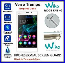 WIKO RIDGE FAB 4G Tempered Glass Vitre de protection d'écran en VERRE TREMPE