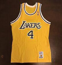 ... MAGIC JOHNSON BASKETBALL JERSEY  32 MEN XL.  250.00. Rare Vintage Sand  Knit NBA Los Angeles Lakers Byron Scott Basketball Jersey abbe306c5