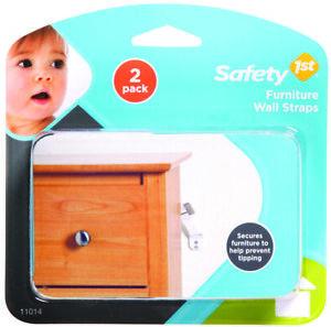 Safety 1st Dorel 11014 Safety 1St Furniture Wall Strap, Nylon, White