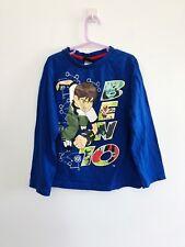 Ben 10 Cartoon Network Boy's Size 8 Long Sleeve Shirt Blue
