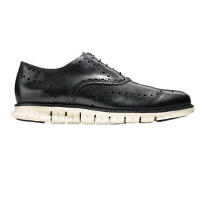 Cole Haan Men's Zerogrand Wingtip Oxford Shoes (Black, Size 10.5)