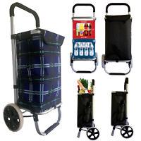 Einkaufswagen Einkaufstrolley Trolley Einkaufsroller Aluminium klappbar Tasche B