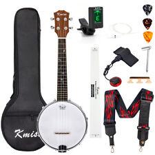 23 inch 4 String Banjo Ukulele Concert Size Banjolele With Bag Tuner Strap Picks