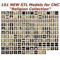 151 NEW Religion 3d STL Models for CNC Router 3d-Printer Artcam Aspire Cut3d