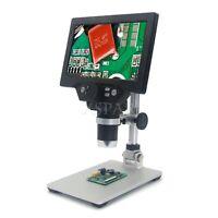 "Digital Microscope 12MP 1200X 1080FHD 7"" LCD 8 LEDs  G1200 Standard Version xr-"