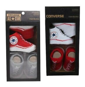 Boys Girls Converse Logo Soft Crib Bootie Gift Box Trainers Size 0-6 Mnth