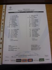 06/12/2011 COLORI teamsheet: Chelsea V Valencia Champions League []. grazie per