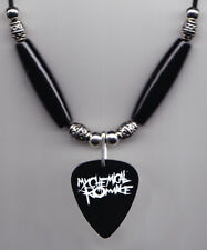 My Chemical Romance Black Guitar Pick Necklace MCR